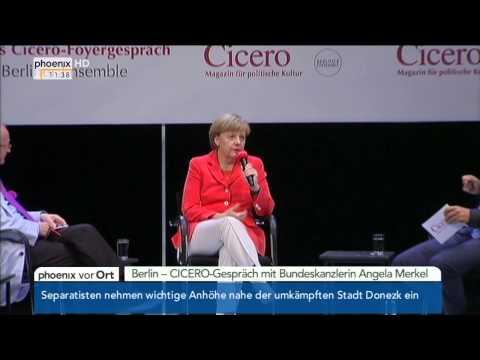 CICERO-Gespräch: Angela Merkel zu politischen Vorhaben am 28.08.2014