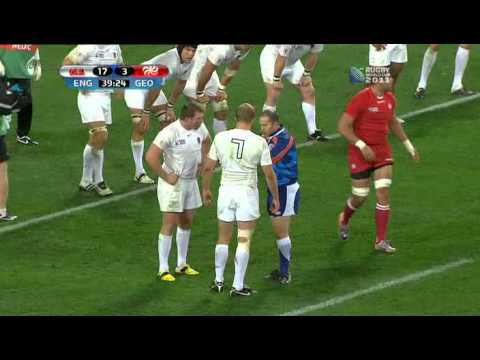 Rugby union England vs Georgia at Dunedin, New Zealand part 4.