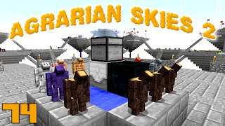 Minecraft Mods Agrarian Skies 2 - MINIONS [E74] (Modded Skyblock)
