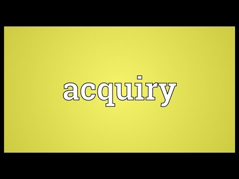 Header of Acquiry