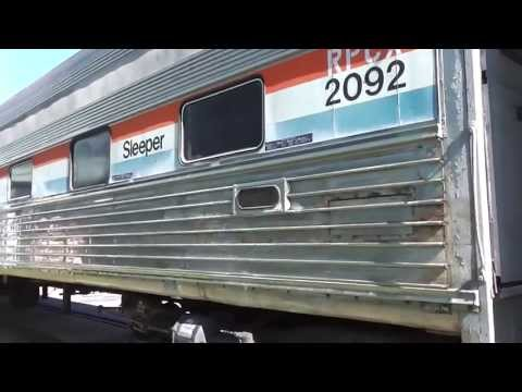 Southeastern Railway Museum The Amtrak Heritage Sleepers Car In(HD) Duluth,Ga.9-14-2013