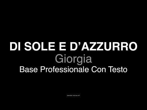 DI SOLE E D'AZZURRO - BASE CON TESTO - Giorgia