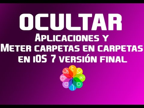 Folders in folder y ocultar aplicaciones en iOS 7
