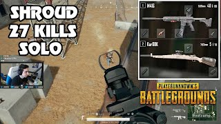 SHROUD SOLO TOP 1 ON NEW MAP - 27 KILLS | PLAYERUNKNOWN'S BATTLEGROUNDS (5/13/18)