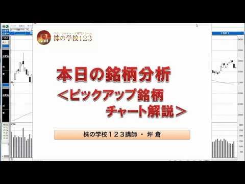 【株の学校123】(2018年5月23日)今日の銘柄分析<ピックアップ銘柄チャート解説>