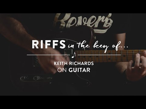 Learn To Play: Riffs In The Key Of Keith Richards Of The Rolling Stones On Guitar (Open G)