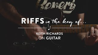 Riffs in the Key of Keith Richards of The Rolling Stones on Guitar (Open G)  | Reverb Learn to Play