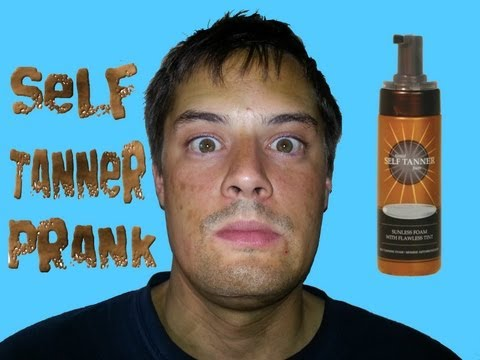 SELF TANNER LOTION PRANK