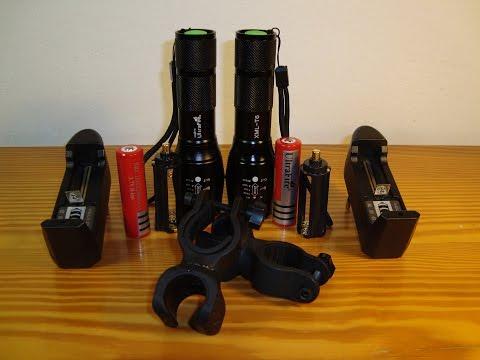 Bike Flashlight E17 UltraFire Linterna LED Cree XM-L T6 2000 Lumen Zoomable Waterproof (AliExpress)