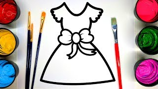 Painting Dress Apple Store Coloring Painting Pages for Kids, Learn Art + to Color with Paint 💜
