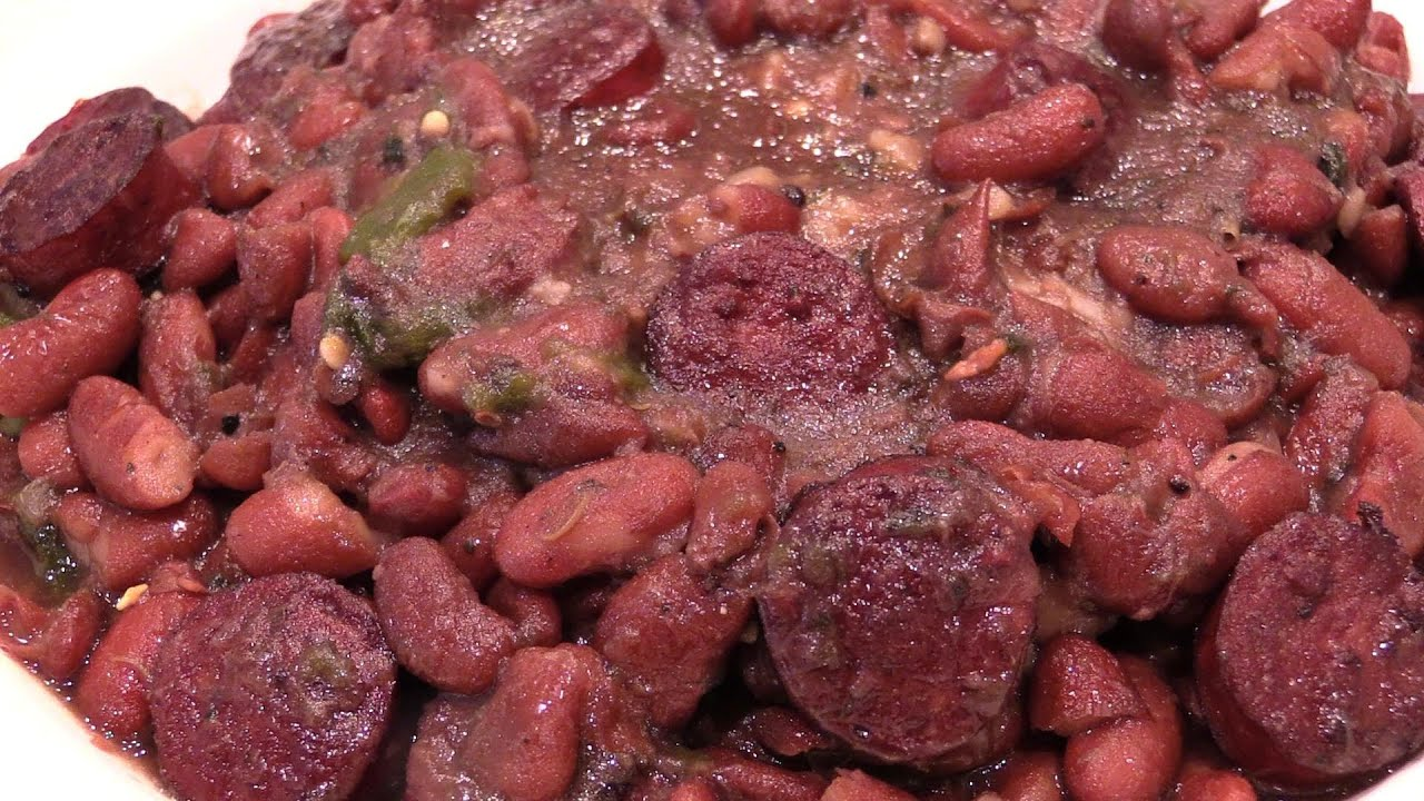 Cajun Red Beans, Rice, & Sausage - YouTube