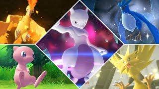All Legendary Pokémon in Pokemon Let's Go Pikachu & Eevee