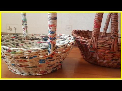 плетенка из газетных трубочек для ручек