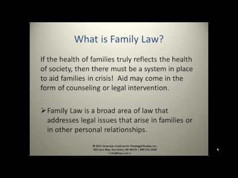 The Role of the Family Law Paralegal