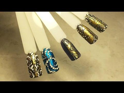 Праздничный ДИЗАЙН ногтей: ЛИТЬЕ