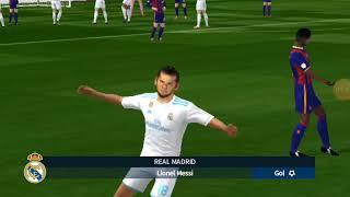 Dream league soccer 2018 desafio de mega treta barcelonaVSreal madrid
