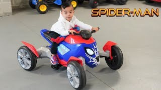 Spiderman New Spiderbike Ride On Car - CKN Toys