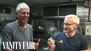 Anthony Bourdain Gets Anderson Cooper to Taste Tripe