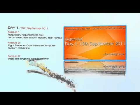 USFDA India Seminar 2011 at Mumbai on Validation and 21 CFR Part 11 Compliance of Computer Systems