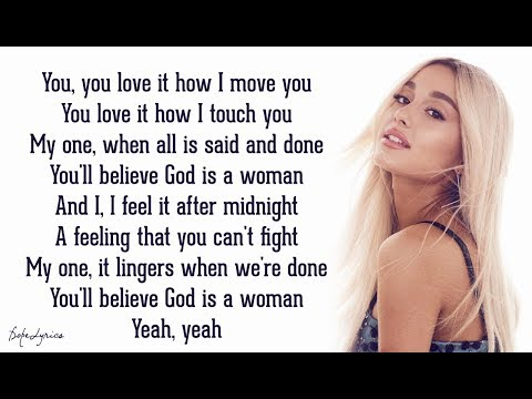 God Is A Woman - Ariana Grande (Lyrics)