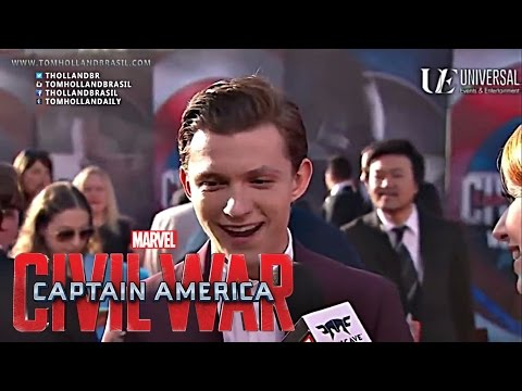 Captain America: Civil War (Abril 2016) Tom Holland in Premiere