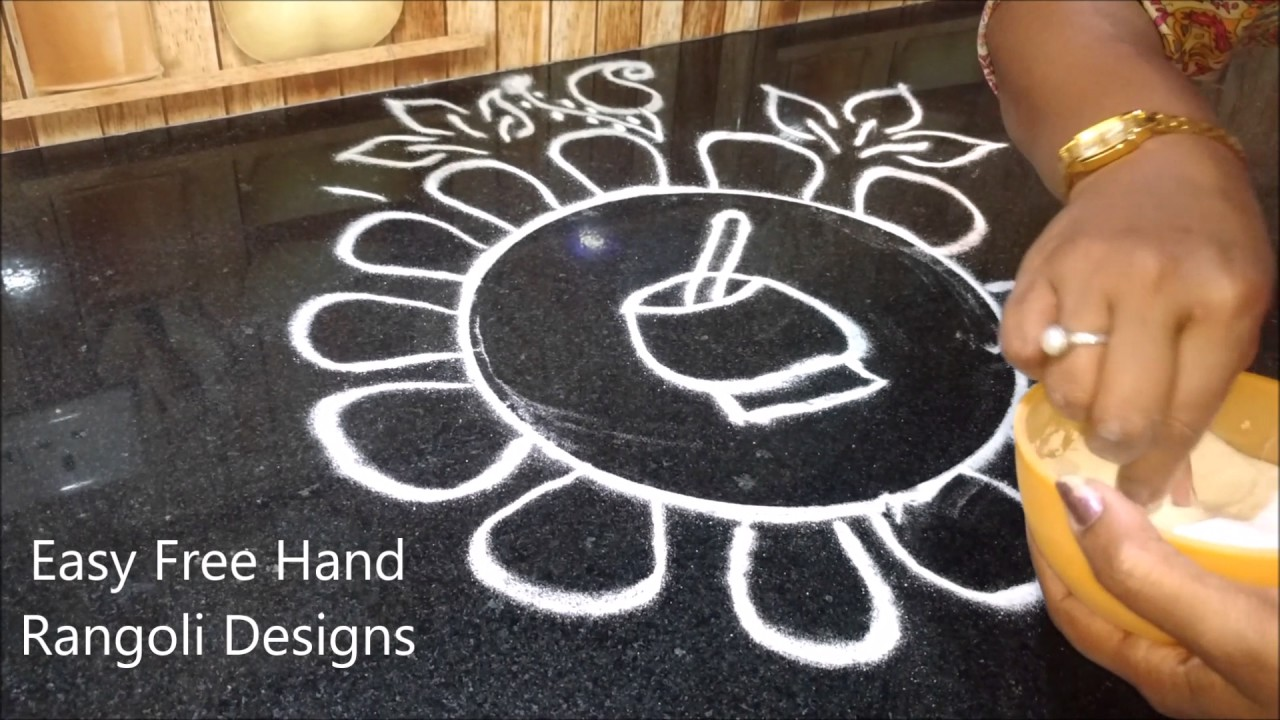 Easy rangoli designs with dots pictures