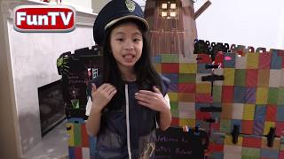 Pretend Play Police LOCKED UP Kaycee in Jail Playhouse for DESTROYING POLICE HOUSE