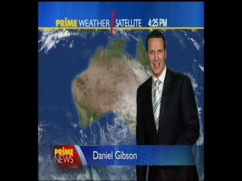 Daniel Gibson presenting the weather on Prime Wagga Video
