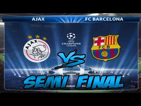 PES 2015 Barcelona vs Ajax UEFA Champions League -  Semi Final