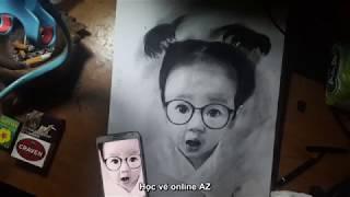 Học vẽ online - học vẽ - tổng hợp skill vẽ tranh đỉnh cao- Vẽ trẻ em siêu đáng yêu p2