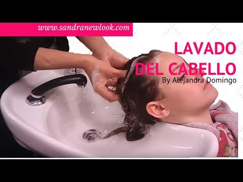 Lavado y masaje de cabello y cuero cabelludo