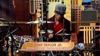 TONY TAYLOR JR NATIONAL DRUMMING CHAMPION