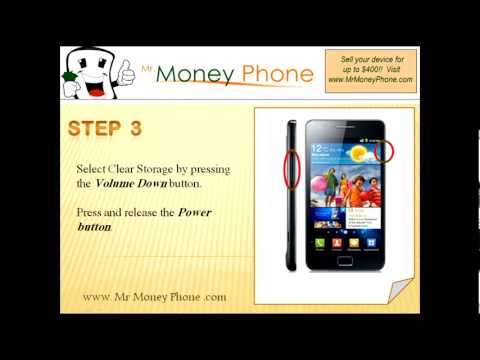 HARD RESET Samsung Galaxy S II GT-i9100 (external) Master Reset (RESTORE to FACTORY condition) Video