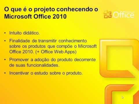Conhecendo o Microsoft Office 2010 - Vídeo 01