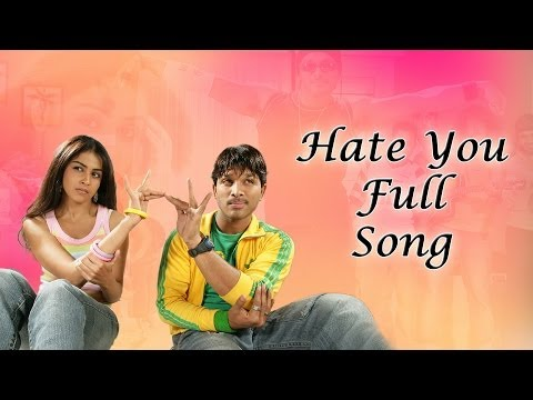 Hate You Full Song || Happy Movie ||  Allu Arjun Genelia DSouza...