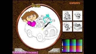 Dora The Explorer Coloring Games - Dora And Boots Coloring Games