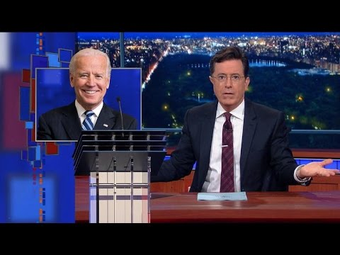 The Late Show with Stephen Colbert mocks CNN giving Biden a podium for the debate when he's not even in the presidential race
