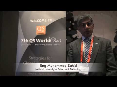 Interview with Eng Muhammad Zahid - National University of Sciences & Technology, Pakistan