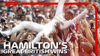 Lewis Hamilton's Great British Grand Prix Wins