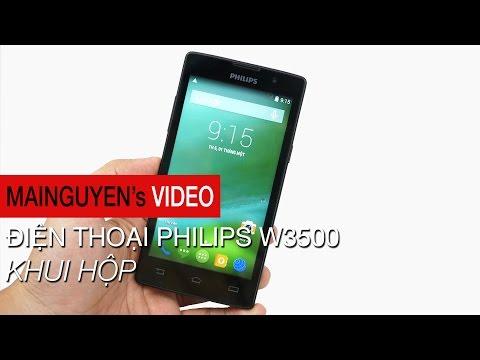 Khui hộp Điện thoại Philips W3500 - www.mainguyen.vn
