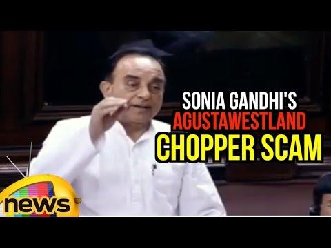Subramanian Swamy Names Sonia Gandhi Over AgustaWestland Chopper Scam | Rajya Sabha | Mango News