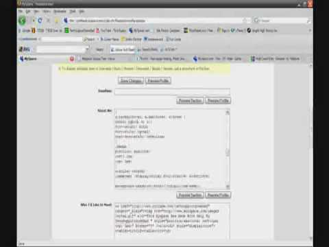 Myspace CSS Tutorial (Part 2) Video
