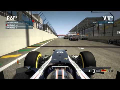 F1 2012 Codemasters Pc -Liga Gold- Salida G.P. Brasil-