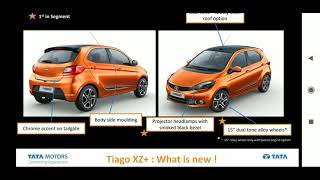 New Tata Tiago XZ+ variant official  specs & features in detail (HINDI)