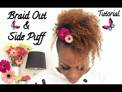 Braid Out & Side Puff Tutorial ft Cashmere Curls