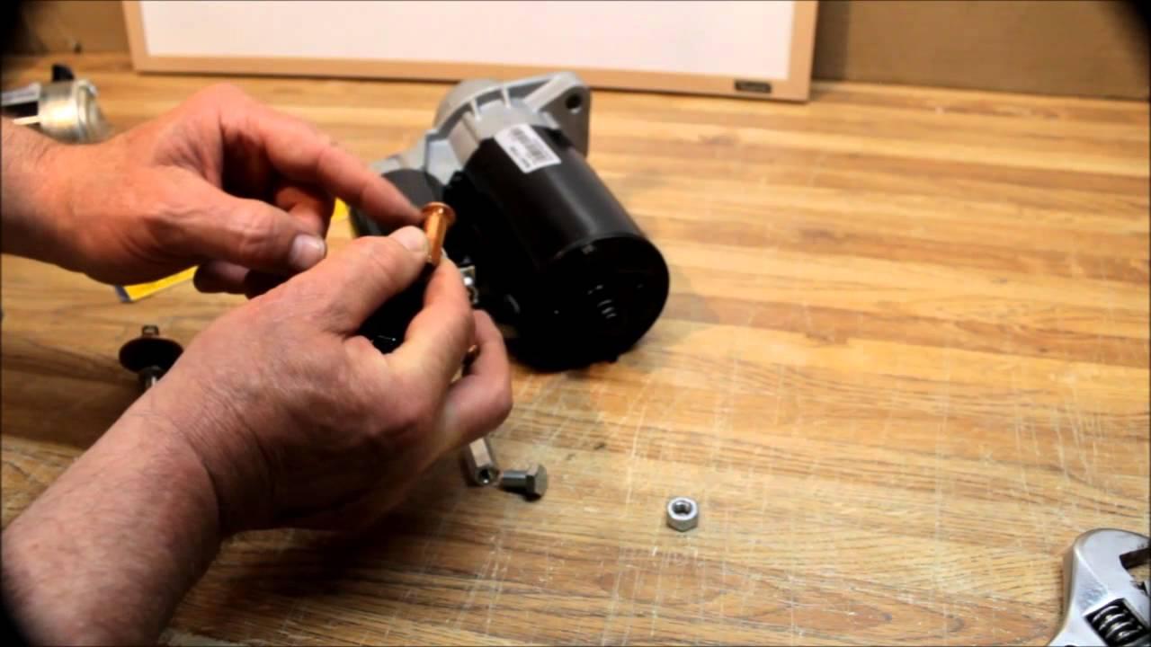 How to Repair a Broken Starter Solenoid Positive Battery Post Stud - YouTube