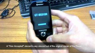 How to Unlock ALL Samsung Corby Plus GT-B3410, Corby Pro GT-B5310, Corby Touch SGH-T566 network code