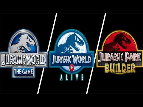 Jurassic World The Game Vs Jurassic World Alive Vs Jurassic Park Builder
