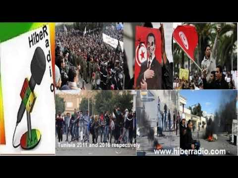 Hiber Radio on Tunisia   recent street protests  and  government appeal Jan,2016