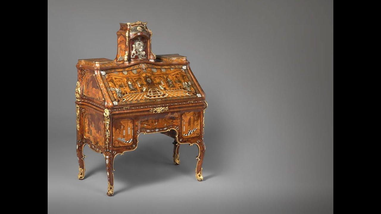 abraham roentgen 39 s writing desk youtube. Black Bedroom Furniture Sets. Home Design Ideas